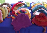 a number of colorful hats