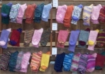 a rack of woolen socks