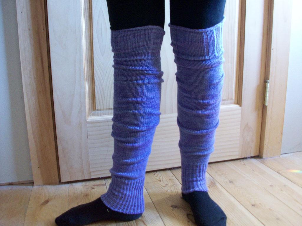 Leg Warmers | Purple Hummingbird Woolens